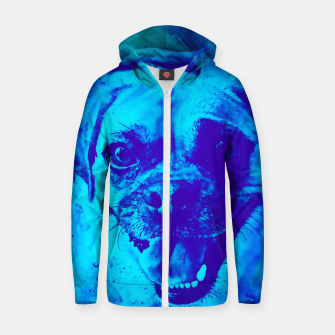 Thumbnail image of happy pug dog wsbt Zip up hoodie, Live Heroes