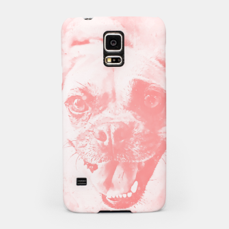 Thumbnail image of happy pug dog wspw Samsung Case, Live Heroes