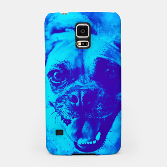 Thumbnail image of happy pug dog wsbt Samsung Case, Live Heroes