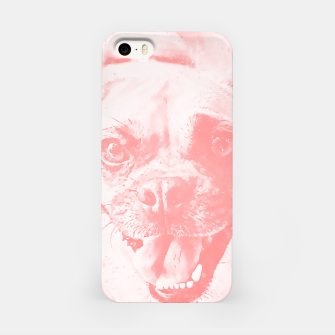 Thumbnail image of happy pug dog wspw iPhone Case, Live Heroes