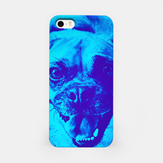 Thumbnail image of happy pug dog wsbt iPhone Case, Live Heroes