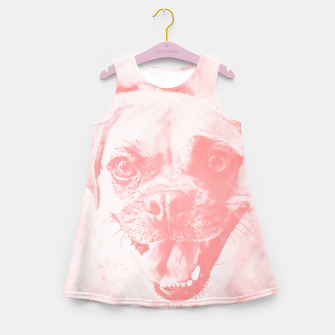 Thumbnail image of happy pug dog wspw Girl's summer dress, Live Heroes