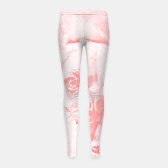 Thumbnail image of happy pug dog wspw Girl's leggings, Live Heroes