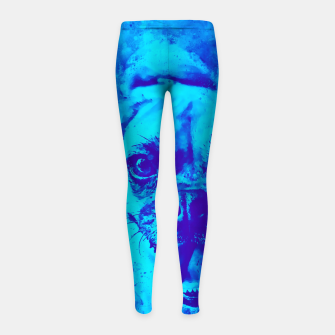 Thumbnail image of happy pug dog wsbt Girl's leggings, Live Heroes
