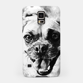 Thumbnail image of happy pug dog wsbw Samsung Case, Live Heroes