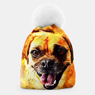 Thumbnail image of happy pug dog wsstd Beanie, Live Heroes