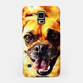 Thumbnail image of happy pug dog wsstd Samsung Case, Live Heroes