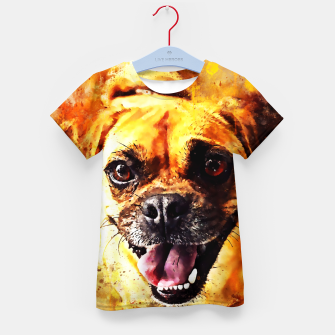 Thumbnail image of happy pug dog wsstd Kid's t-shirt, Live Heroes