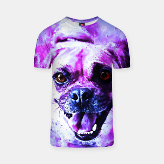 Thumbnail image of happy pug dog wslbb T-shirt, Live Heroes