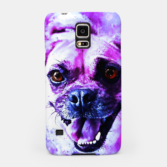 Thumbnail image of happy pug dog wslbb Samsung Case, Live Heroes