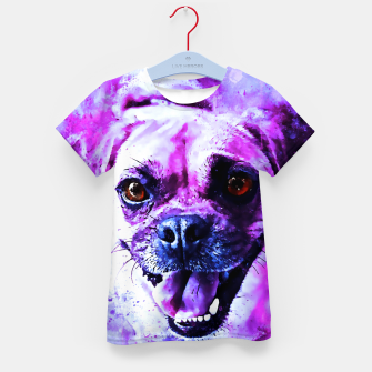 Thumbnail image of happy pug dog wslbb Kid's t-shirt, Live Heroes
