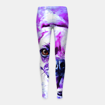 Thumbnail image of happy pug dog wslbb Girl's leggings, Live Heroes