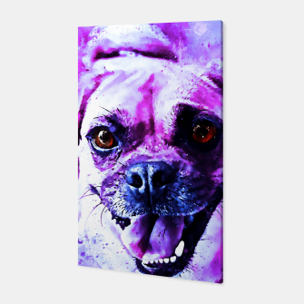 Thumbnail image of happy pug dog wslbb Canvas, Live Heroes