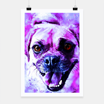 Thumbnail image of happy pug dog wslbb Poster, Live Heroes