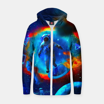 Thumbnail image of Lost Astronaut Zip up hoodie, Live Heroes