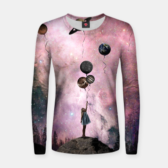 Thumbnail image of Planet Girl Women sweater, Live Heroes