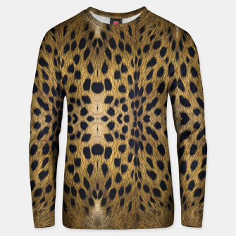 Thumbnail image of Brown Leopard Texture Pattern Unisex sweater, Live Heroes