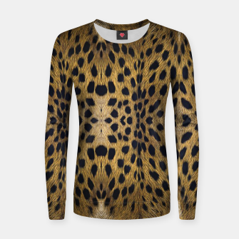 Thumbnail image of Brown Leopard Texture Pattern Women sweater, Live Heroes