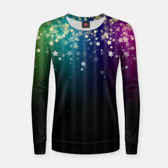 Miniatur Colorful Space Rainbow Stars Women sweater, Live Heroes