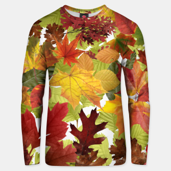Thumbnail image of Autumn Fall Leaves Unisex sweater, Live Heroes