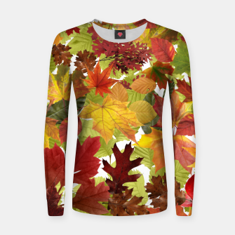 Thumbnail image of Autumn Fall Leaves Women sweater, Live Heroes