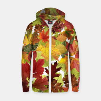 Thumbnail image of Autumn Fall Leaves Zip up hoodie, Live Heroes