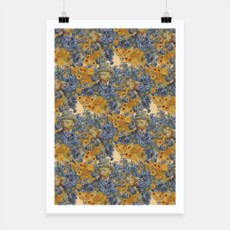 Thumbnail image of  Van Gogh and flowers Poster, Live Heroes