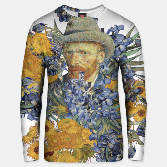 Thumbnail image of Van Gogh and flowers Unisex sweater, Live Heroes