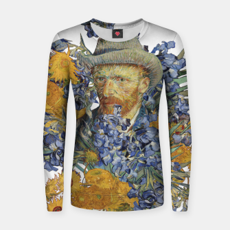 Thumbnail image of Van Gogh and flowers Women sweater, Live Heroes