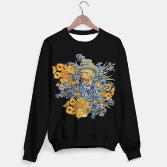 Thumbnail image of Van Gogh and flowers Sweater regular, Live Heroes