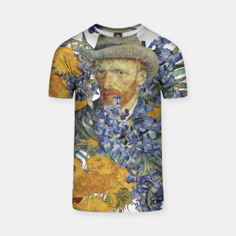 Thumbnail image of Van Gogh and flowers T-shirt, Live Heroes