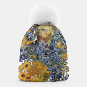 Thumbnail image of Van Gogh and flowers Beanie, Live Heroes
