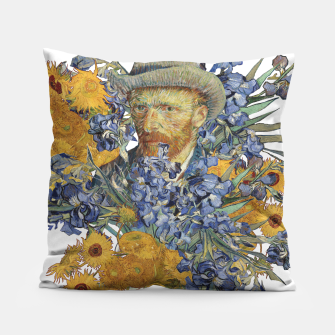 Thumbnail image of Van Gogh and flowers Pillow, Live Heroes