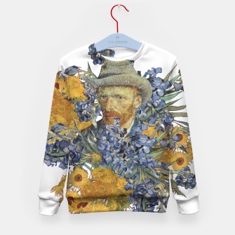 Thumbnail image of Van Gogh and flowers Kid's sweater, Live Heroes