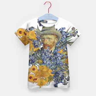Thumbnail image of Van Gogh and flowers Kid's t-shirt, Live Heroes