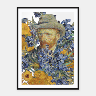 Thumbnail image of Van Gogh and flowers Framed poster, Live Heroes