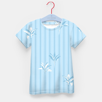 Blue and white Leaves & Lines Kid's t-shirt thumbnail image