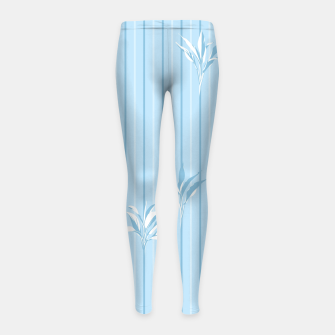 Blue and white Leaves & Lines Girl's leggings thumbnail image