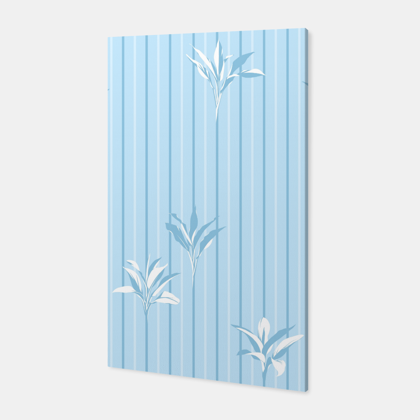 Image of Blue and white Leaves & Lines Canvas - Live Heroes