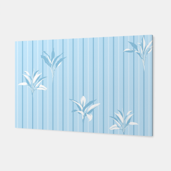 Blue and white Leaves & Lines Canvas thumbnail image