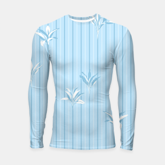 Blue and white Leaves & Lines Longsleeve rashguard  thumbnail image
