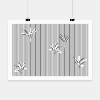 Thumbnail image of Gray and white Leaves & Lines Poster, Live Heroes