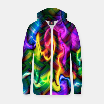 Thumbnail image of Laser Design Zip up hoodie, Live Heroes