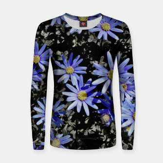 Thumbnail image of Daisies On Grey Women sweater, Live Heroes