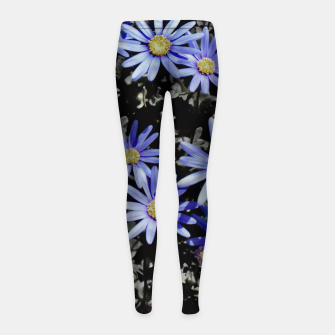 Thumbnail image of Daisies On Grey Girl's leggings, Live Heroes