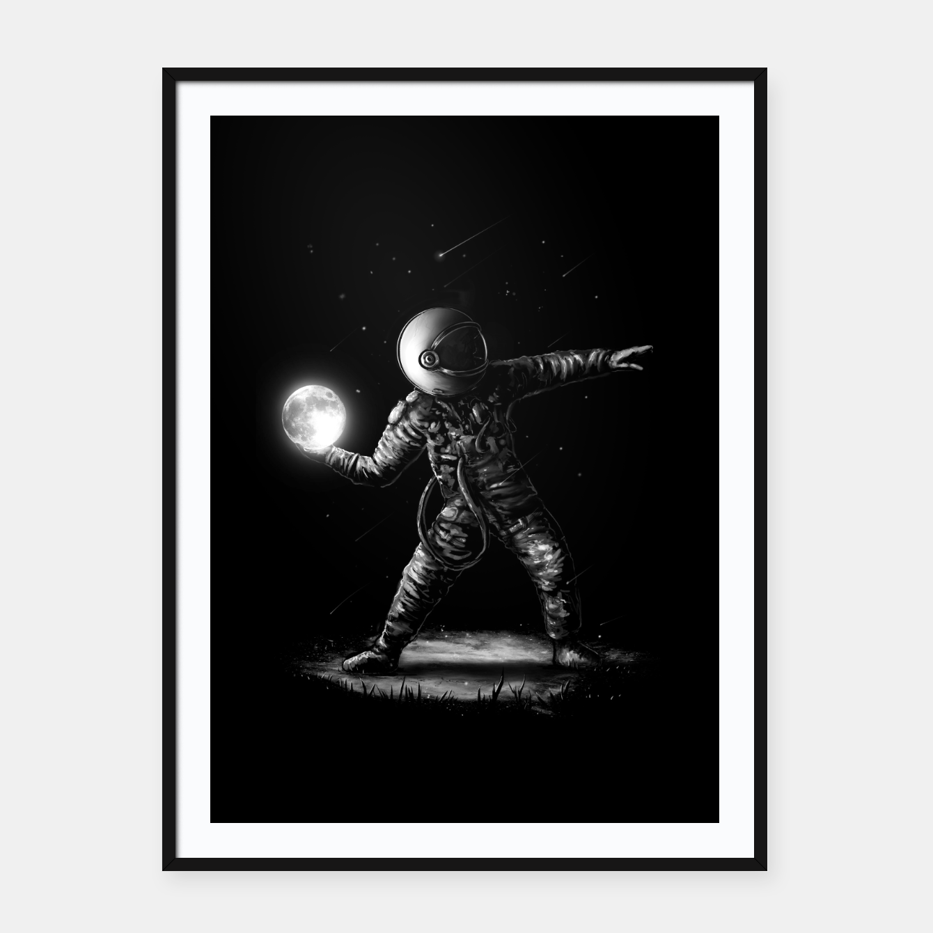 Image of Moonlotov Framed poster - Live Heroes
