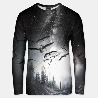 Miniatur Alone in the Forest Unisex sweater, Live Heroes