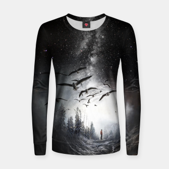 Miniatur Alone in the Forest Women sweater, Live Heroes