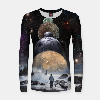 Thumbnail image of Walking to the Planets Women sweater, Live Heroes