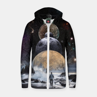 Thumbnail image of Walking to the Planets Zip up hoodie, Live Heroes